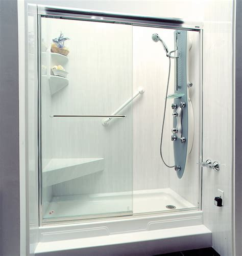 How To Clean Acrylic Shower Wall Surround Cleaning Bathroom Showers
