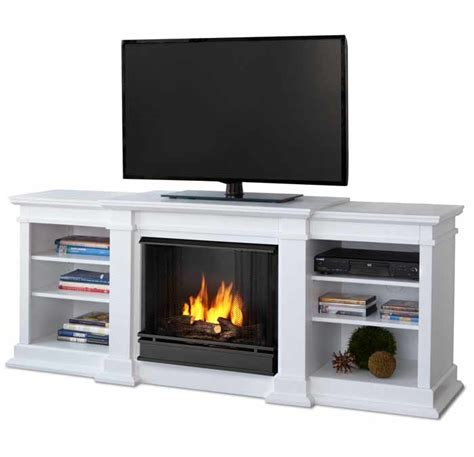 fresno g1200e w white electric media fireplace just