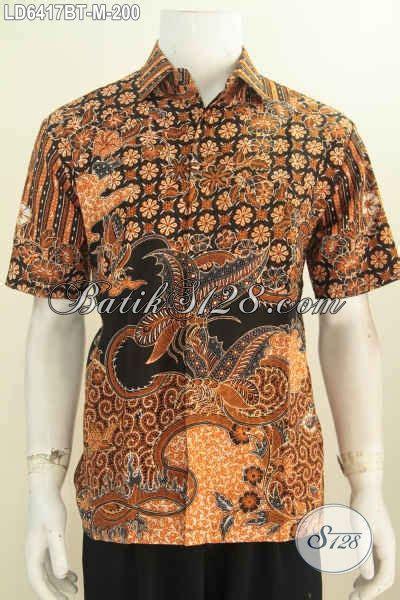 Kemeja Cowok Pria Fr 244 busana batik elegan lengan pendek baju batik pria muda
