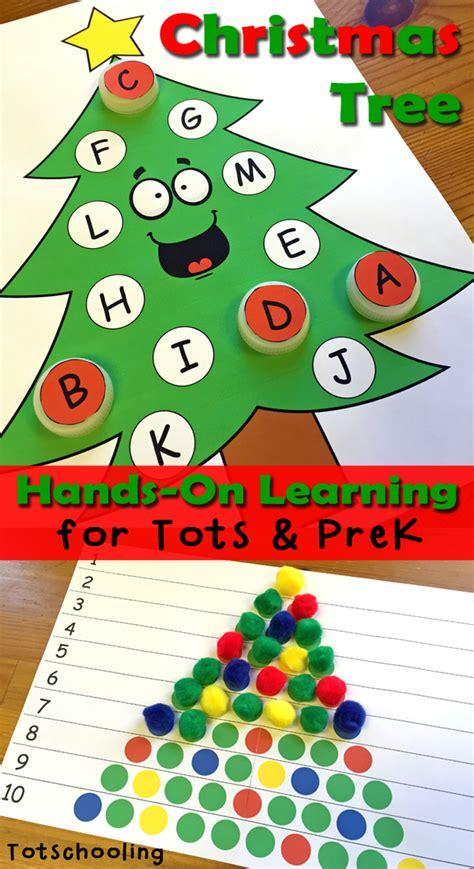 christmas for kindergarten tree learning activities for toddlers prek totschooling toddler preschool