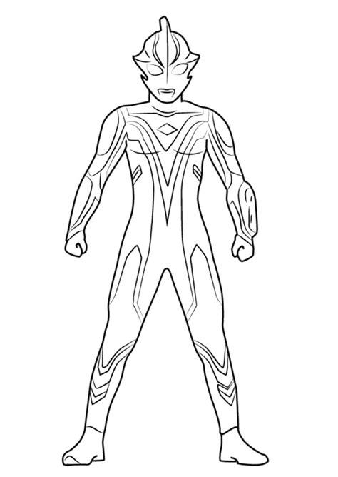 Gambar Ultraman Untuk Diwarnai • BELAJARMEWARNAI.info