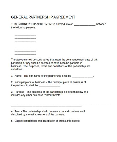 sle business partnership agreement draft partnership agreement template 28 images sle