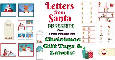 holiday helps letters to santa gift tags real neat real letters from santa presents free printable christmas gift