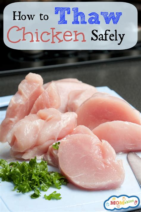 how to thaw chicken safely