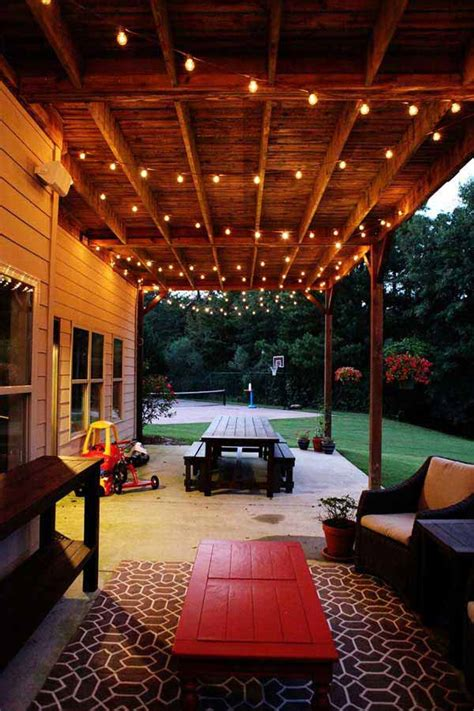 26 Breathtaking Yard And Patio String Lighting Ideas Will Covered Patio Lighting