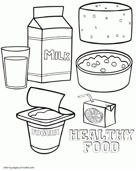 milk and food coloring healthy food coloring pages printable printable coloring