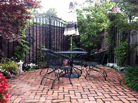 brick backyard fresh ideas for outdoor living areas creative faux panels