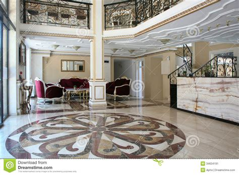 Baroque Style Hotel Interior Stock Image   Image: 34634191