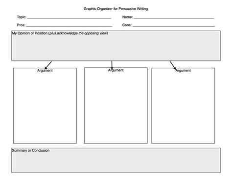 Persuasive Essay Prewriting Outline by 17 Best Images About Graphic Organizers On Writing Graphic Organizers Retelling And