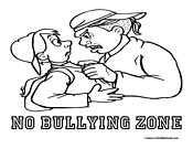 no bullying zone colouring pages