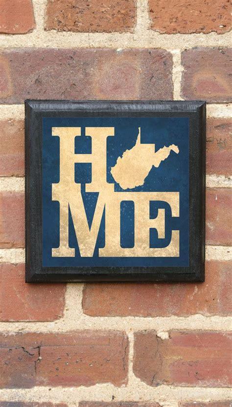 wvu home decor west virginia home wall art sign plaque gift present