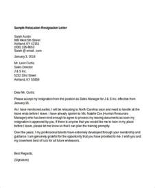 Resignation Letter Due To Moving Template 10 Relocation Resignation Lette Free Word Pdf Document Free Premium Templates