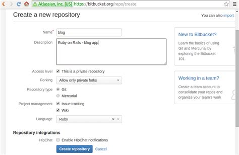 git tutorial create repository ruby on rails tutorial git and bitbucket 2018