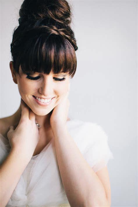 10 Peinados De Novia O Invitada Con Flequillo Wedding Wedding Planner Berlin