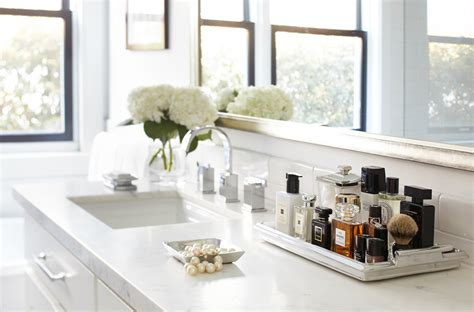 Innovative perfume tray in Bathroom Transitional with