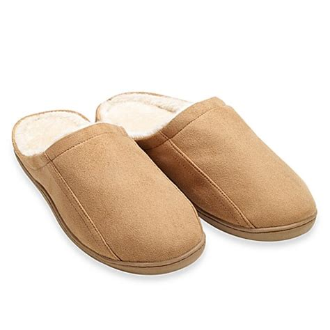 bed bath and beyond slippers buy men s memory foam slipper chestnut from bed bath