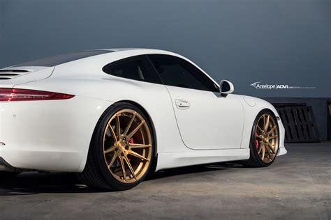 Porsche 911 Weiss by White Porsche 911 4s Adv5 2 Sl Series Wheels
