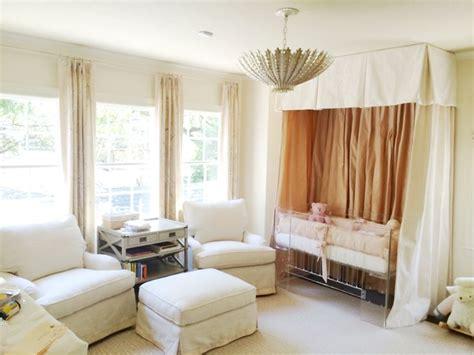 crib curtains aerin hton large pendant transitional nursery amy