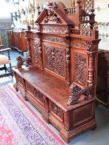 antique entry bench carved figural entry way bench at 1stdibs