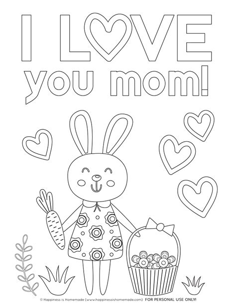 mothers day coloring s day coloring pages free printables happiness