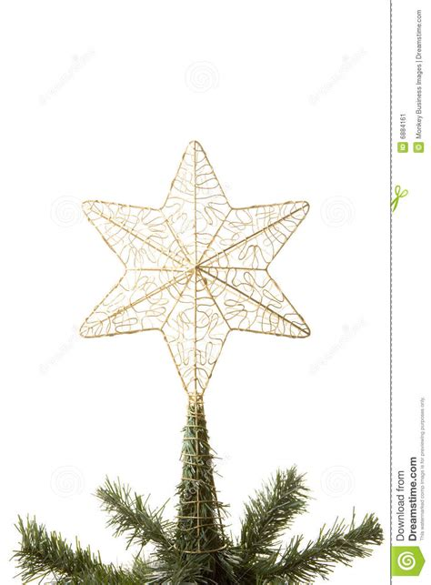 star on top of christmas tree stock image image 6884161