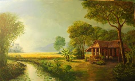 situs inspirasi lukisan pemandangan  arti seni
