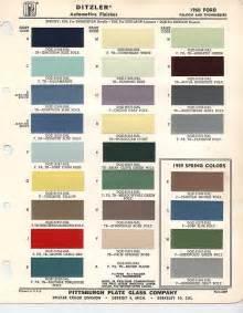 1960 t bird exterior color paint chips t birds