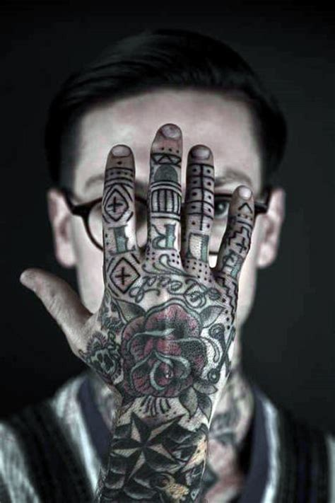 full hand tattoo designs 75 finger tattoos for manly design ideas