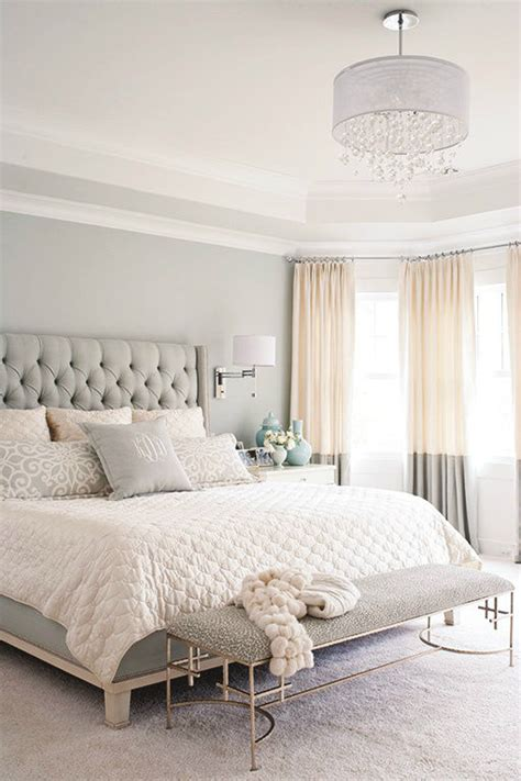 grey white  tan casual bedroom decor pictures