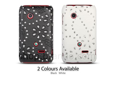 Casing Hp Sony Xperia Tipo sony xperia tipo st21i glittery leaf embossed back