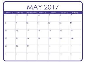 picture calendar template may 2017 printable calendar templates free printable