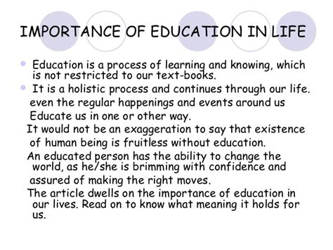 Essay On Importance Of Education In by Start Early And Write Several Drafts About Essay On Importance Of Education