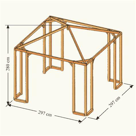 holzpavillon selber bauen bauplan holz pavillon 3 215 3 kh59 hitoiro