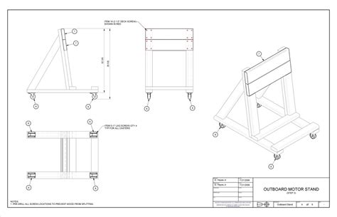 how to build an outboard motor stand building an o b motor stand page 1