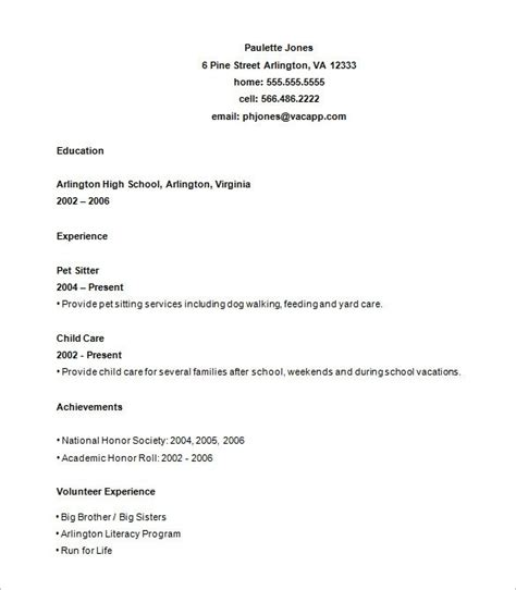 simple resume template for college students professional template