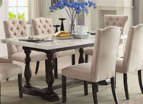 acme marble dining table gerardo white marble and weathered espresso dining table