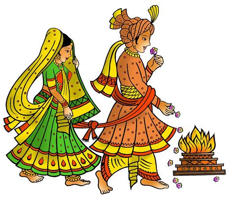 Wedding Clipart Color by Hindu Wedding Card Clipart In Colour Beautiful Wedding