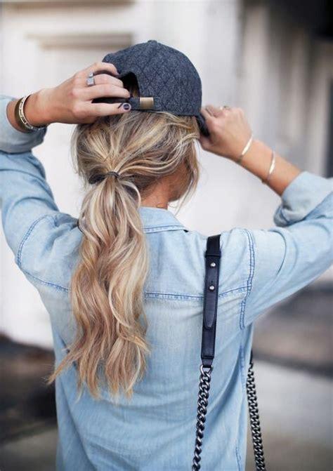hair cuff gold follow  baseball cap hair  blonde