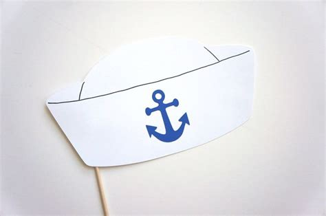 Make Paper Sailor Hat - photo booth props sailor hat photobooth props white