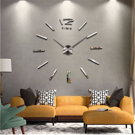 decoration modern wall clock art home decor large diy 3d 2016 new home decor large wall clock modern design living