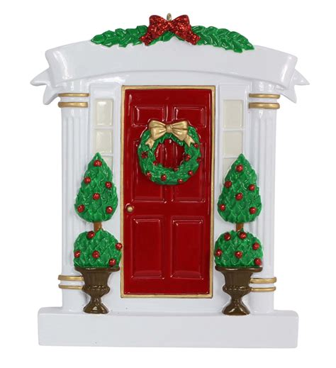 home decor wholesale suppliers wholesale resin red home door christmas ornaments with wreath and pine tree as personalized