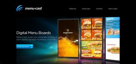web design inspiration restaurant menu cast website has a great web design best web designs