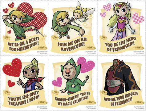 printable zelda card nintendo offers free mario zelda and kirby valentine s