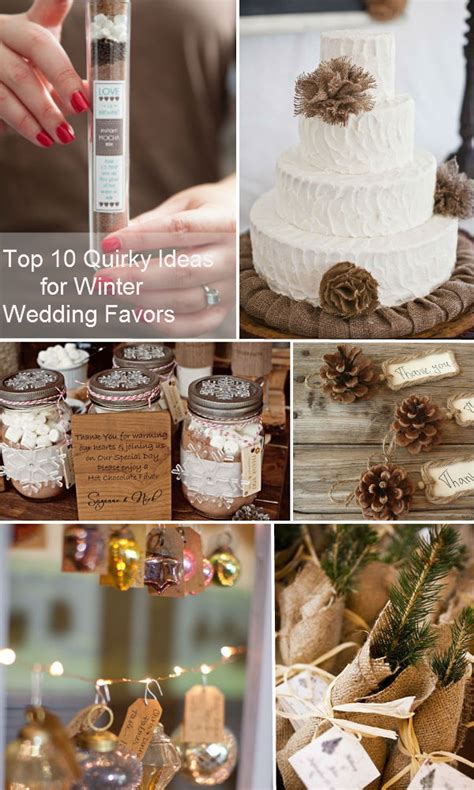 Winter Giveaways - top 10 quirky ideas for winter wedding favors