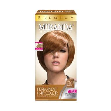 Spesial Pewarna Rambut Miranda Hair Color Premium Colour Bpom Terlari jual miranda premium hair color golden brown 60 ml harga kualitas terjamin