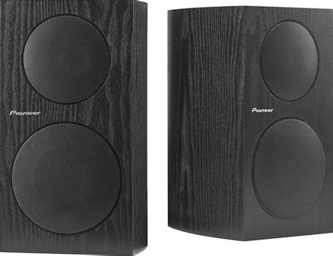 pioneer 4 quot 2 way bookshelf speakers pair sp bs21 lr