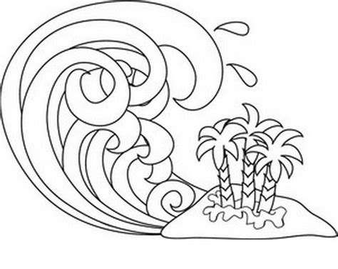 coloring page waves waves coloring and paint color area