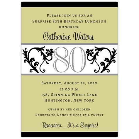 free 80th birthday invitations templates quotes for 80th birthday invitation quotesgram