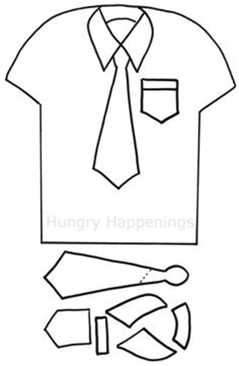 dress shirt card template shirt and tie clipart outline