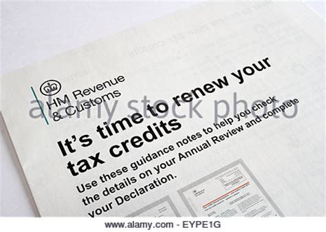 Tax Credit Form Tc600 Tax Credits Renewal Form Stock Photo Royalty Free Image 54806757 Alamy